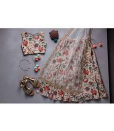Khaki Chidiya Print Lehenga Set