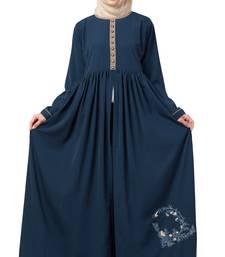 MRC Women Half Open Crepe Solid Burqa With Hijab