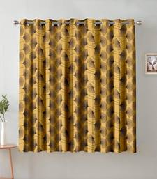 A Golden Printed  Polyester Window Curtain