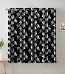 A Black Printed  Polyester Window Curtain