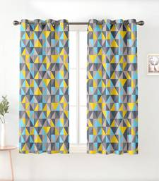 A Silver Printed  Polyester Window Curtain