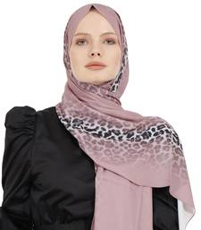 JSDC Printed Pink Color Georgette Scarf Hijab For Women Islamic Wear