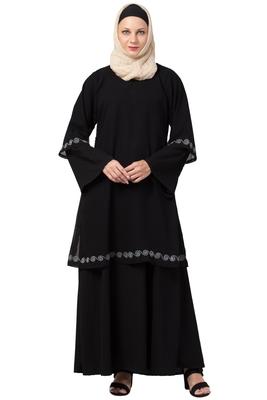 MRC Women A-Line Double Layered Abaya With Hijab