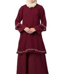 MRC-9086 Front double layered abaya with Hijab