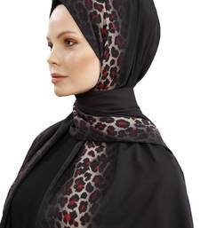 JSDC Women Red Color Animal Printed Scarf Hijab Dupatta