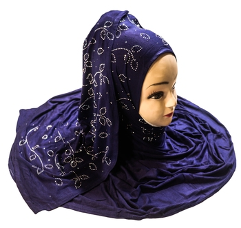JSDC Women Stone Work Hosiery Scarf Hijab Dupatta For Daily Wear