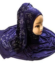 JSDC Women Stone Work Hosiery Scarf Hijab Dupatta For Daily Wear