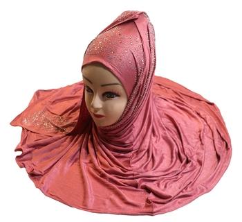 JSDC Diamond Stone Work Women Hosiery Cotton Islamic Scarf Hijab