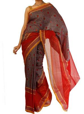 Organza fancy Tanchooi  Stripe border banarasi saree