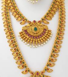 Gold spinel jewellery-combo