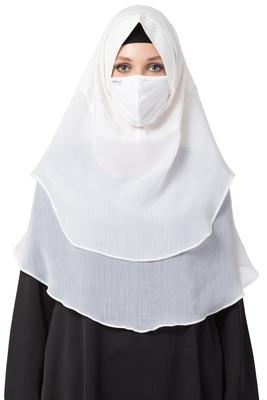 3 Pcs Set : Hijab, Under Hijab Cap & Mask