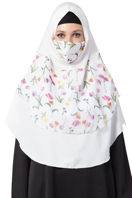 3 Pcs Set : Hijab, Under Hijab Cap & Mask