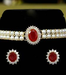 Red pearl chokers
