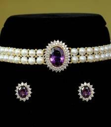 Purple pearl chokers