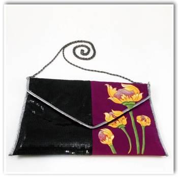 Black/Purple Bling-Sling