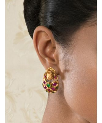 Divine Decadence Red & Gold Earrings