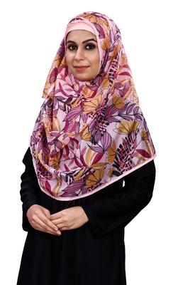 Women's Floral Leaf Printed BSY Magic Material Scarf Hijab Dupatta