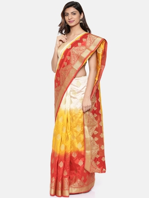 CLASSICATE from the house of The Chennai Silks  Women's Multicolor Dupion Saree With Blouse