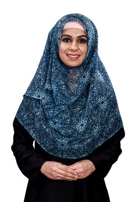 Women's Floral Printed BSY Magic Scarf Hijab Dupatta