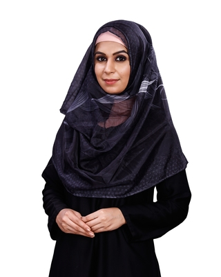 Women's Leaf Printed BSY Magic Material Scarf Hijab Dupatta