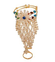 Gold Plated Traditional Phool (Pocha) Free Size  For Women & Girls