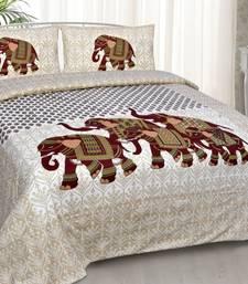 Pink City Fabrcs Unique Design Pure Cotton Jaipuri Bedsheet with 2 Pillow Cover