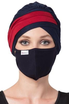 2 Pcs Set-Under Hijab Turban Cap and Mask Combo