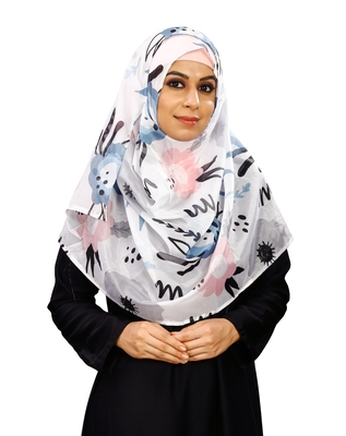 JSDC Daily Wear Printed BSY Magic Scarf Hijab For Women