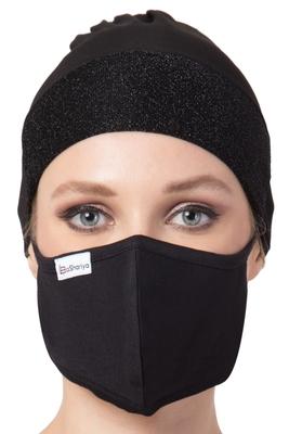 2 Pcs Set-Under Hijab Shimmer Cap and Mask Combo