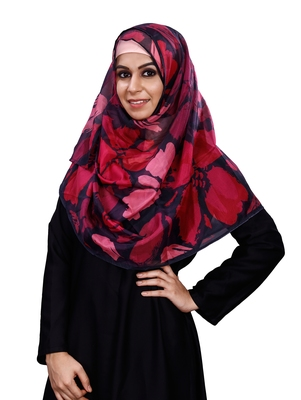 JSDC Printed BSY Magic Scarf Hijab Dupatta For Women