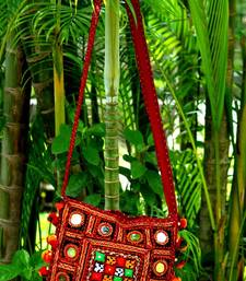 Multicolored Real Mirror Worked Banjara Bag With Hanging Pompom