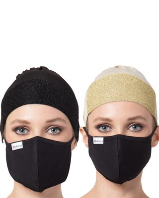 4 Pcs Set-Under Hijab Cap and Mask Combo