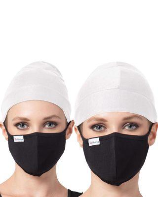 4 Pcs Set-Under Hijab Cap and Mask Combo