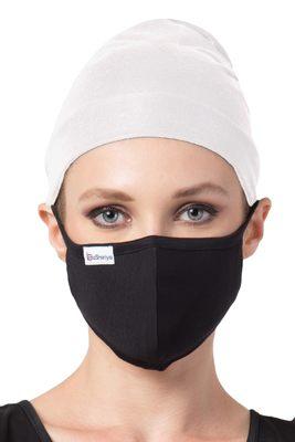 2 Pcs Set-Under Hijab Bonnet Cap and Mask Combo