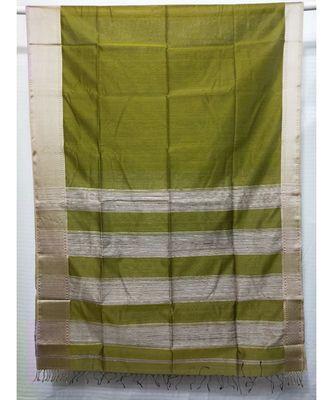 MEHNDI  woven cotton silk saree with blouse