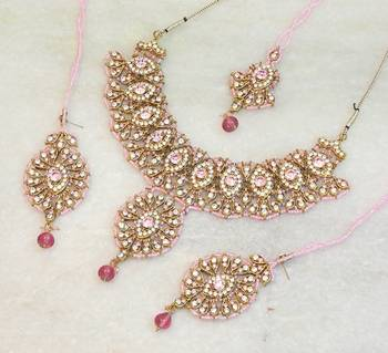 Elegant bridal party zircon colored stone necklace set ns07