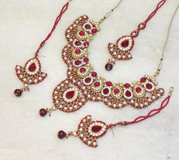 Elegant bridal party zircon colored stone necklace set ns12