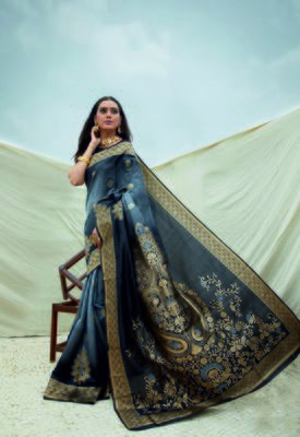 Aurima Crystle Silk Designer Saree For Women