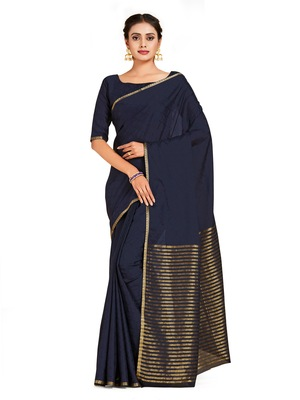 black hand woven crepe saree with blouse