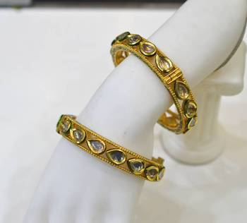 Antique Diamond Polki Bangles