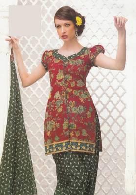 Dress Material Elegant Cotton Printed Unstitched Salwar Kameez Suit D.No 4022