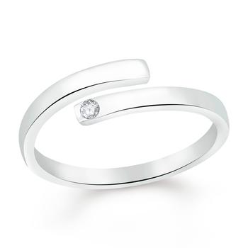 White cubic zirconia rings