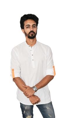 White plain khadi men-kurtas