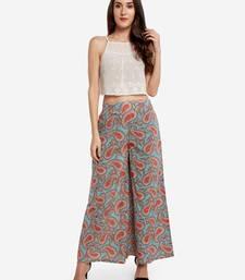 Multicolor printed cotton palazzo-pants