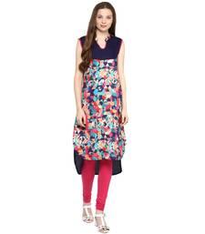 Multicolor plain viscose rayon ethnic-kurtis