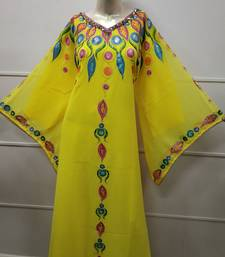 ROYAL HAND PAINT PARTY EVENING DRESS ARABIC EGYPT KAFTAN MAXI GOWN FARASHA 5812