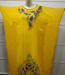 ROYAL HAND PAINT PARTY EVENING DRESS ARABIC EGYPT KAFTAN MAXI GOWN FARASHA 0422