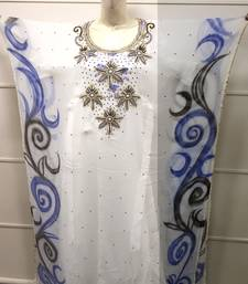 ROYAL HAND PAINT PARTY EVENING DRESS ARABIC EGYPT KAFTAN MAXI GOWN FARASHA 0549