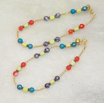 colored bead payal
