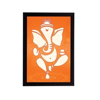 eCraftIndia Lord Ganesha Satin Matt Texture UV Art Painting